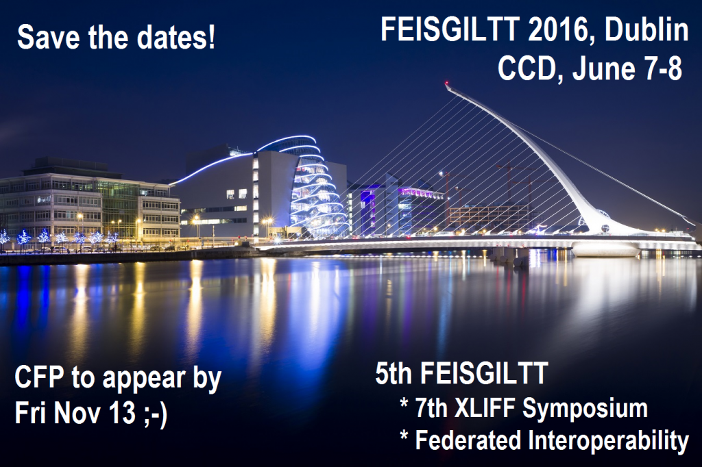 Save the FEISGILTT dates!