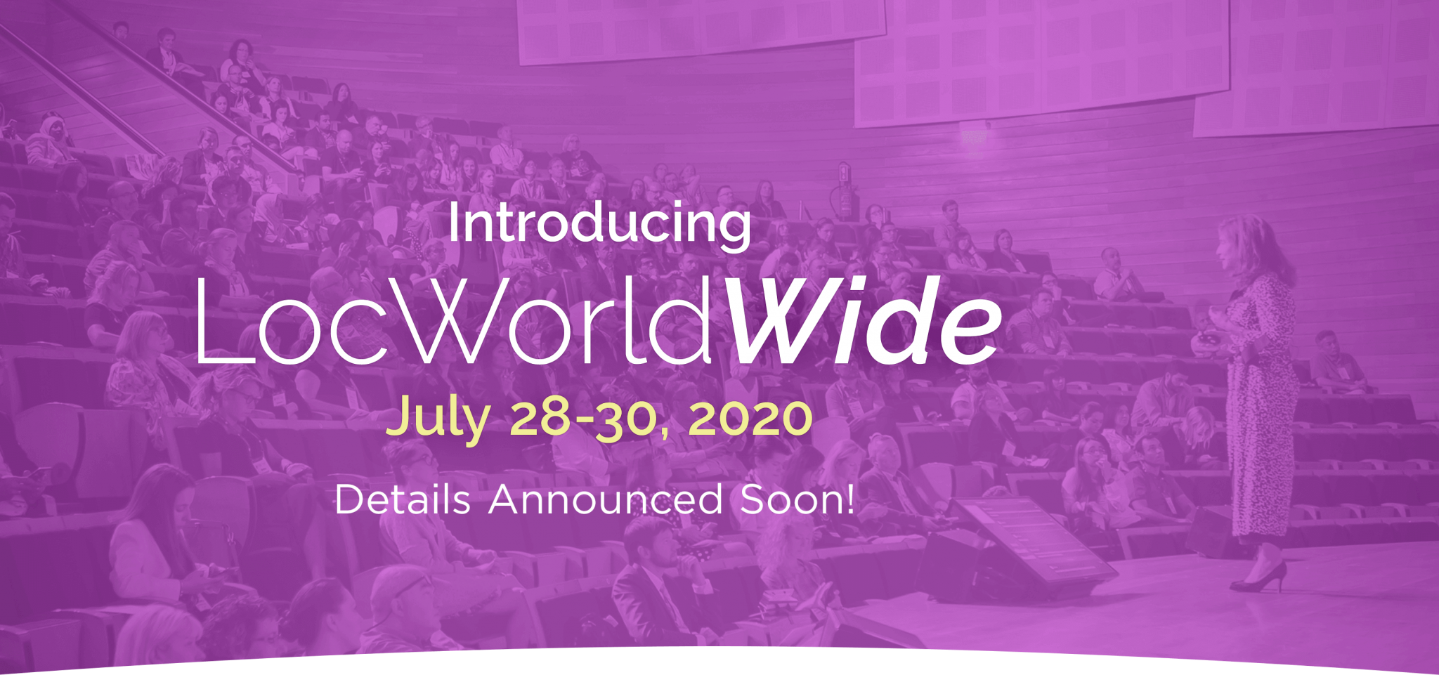 LocWorldWide42. July 28-30, 2020.